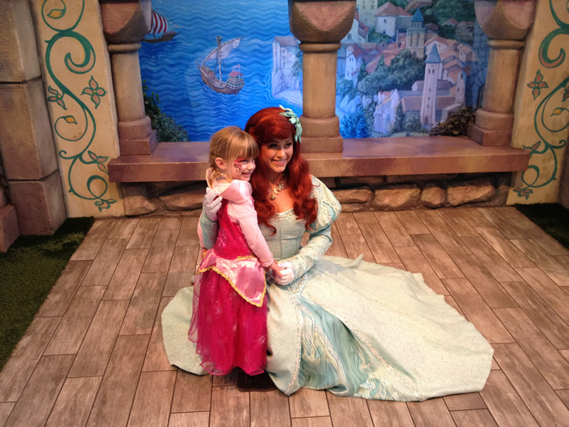 Mia Moore & Princess Ariel of Little Mermaid on Nov 25 2011