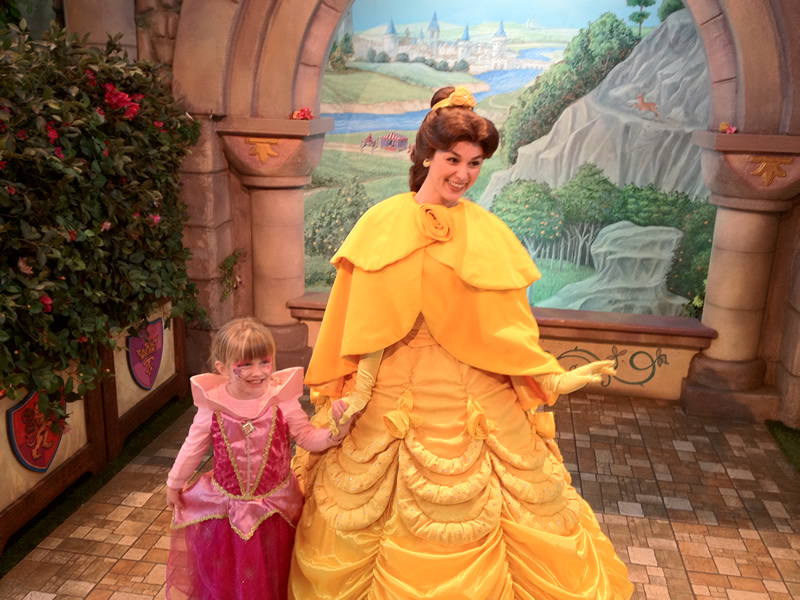 Mia Moore & Princess Belle of Beauty and the Beast on Nov 25 2011